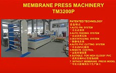 TM3200P Membrane Press Machinery High Glossy
